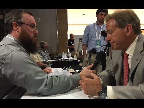 One-on-One with Alabama head coach Nick Saban