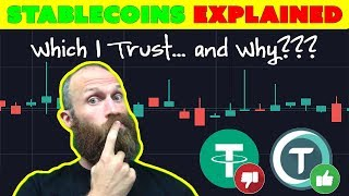 Stablecoins Explained - Tether vs TrueUSD vs DAI - MACD Crypto Strategy  [Trading Tip]