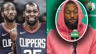 "STEPH CURRY REACTS TO DURANT JOINING KAWHI IN LA! ""IM COMING TO NEW YORK"" + KEMBA CALLS JORDAN CHEAP"