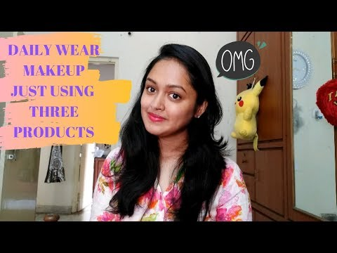 Daily Wear Makeup Just Using 4 Products    Simple Makeup Look    HEAVENLY HOMEMADE