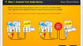 How to use Honestech Audio Recorder 2.0 Deluxe - Easy Mode
