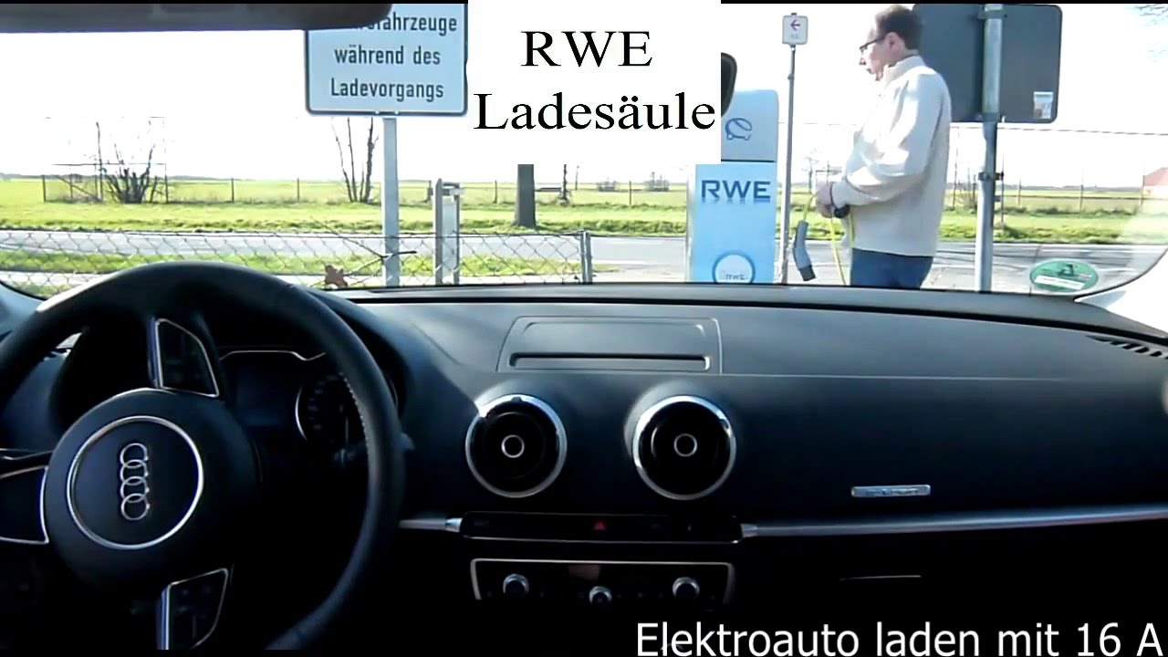 elektroauto laden audi a3 e tron youtube. Black Bedroom Furniture Sets. Home Design Ideas
