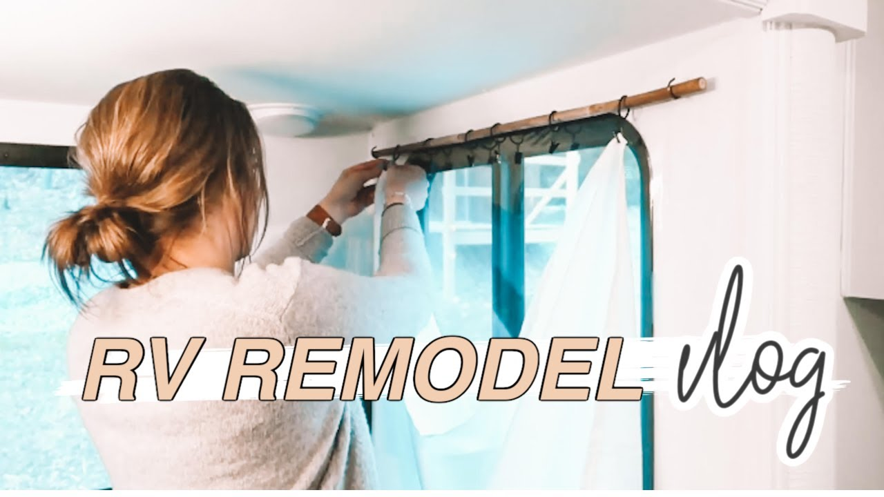 how to diy curtains rv remodel budget friendly