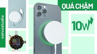 Đánh giá sạc không dây MagSafe cho iPhone 12: sạc chậm mà đắt