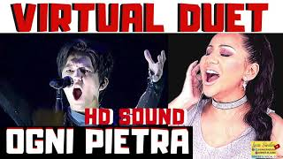"Cover images DIMASH ""Ogni Pietra"" - Olimpico Virtual Duet with LUCIA SINATRA (Vocal Coach)"