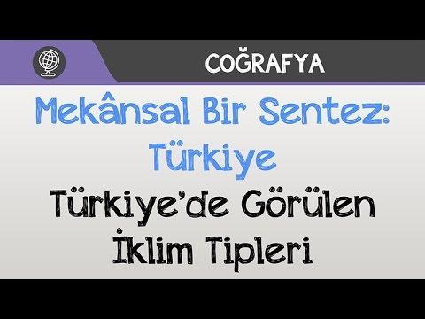Mekânsal Bir Sentez: Türkiye - Türkiye'de Görülen İklim Tipleri