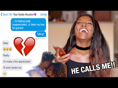 "SONG LYRIC PRANK ON BOYFRIEND & HE CALLS ME!! ""Unappreciated"" Cherish Lyrics"