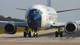 Boeing 737-300 Takeoff Jetblast Pushes Motorcycle! Skiathos, the Second St Maarten Plane Spotting