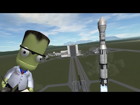 KSP Stock Reusable Rocket, 1st and 2nd stage. How to Kerbal SpaceX style.