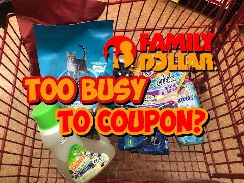 Too Broke to Coupon? WATCH THIS!! / Family Dollar In Store Couponing / Shop with Sarah / 5-28