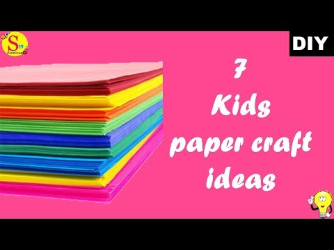 7 kids craft ideas | how to make a paper animals easy step by step | holiday crafts for kids easy