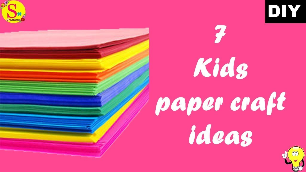 7 kids craft ideas   how to make a paper animals easy step by step   holiday crafts for kids easy