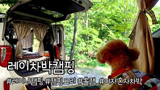 (4K) 레이차박 / 가평계곡캠핑장/감성차박/캠핑요리/…
