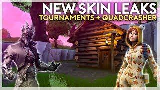 New Skin Leaks, Quadcrasher, and Events! (Fortnite Battle Royale)