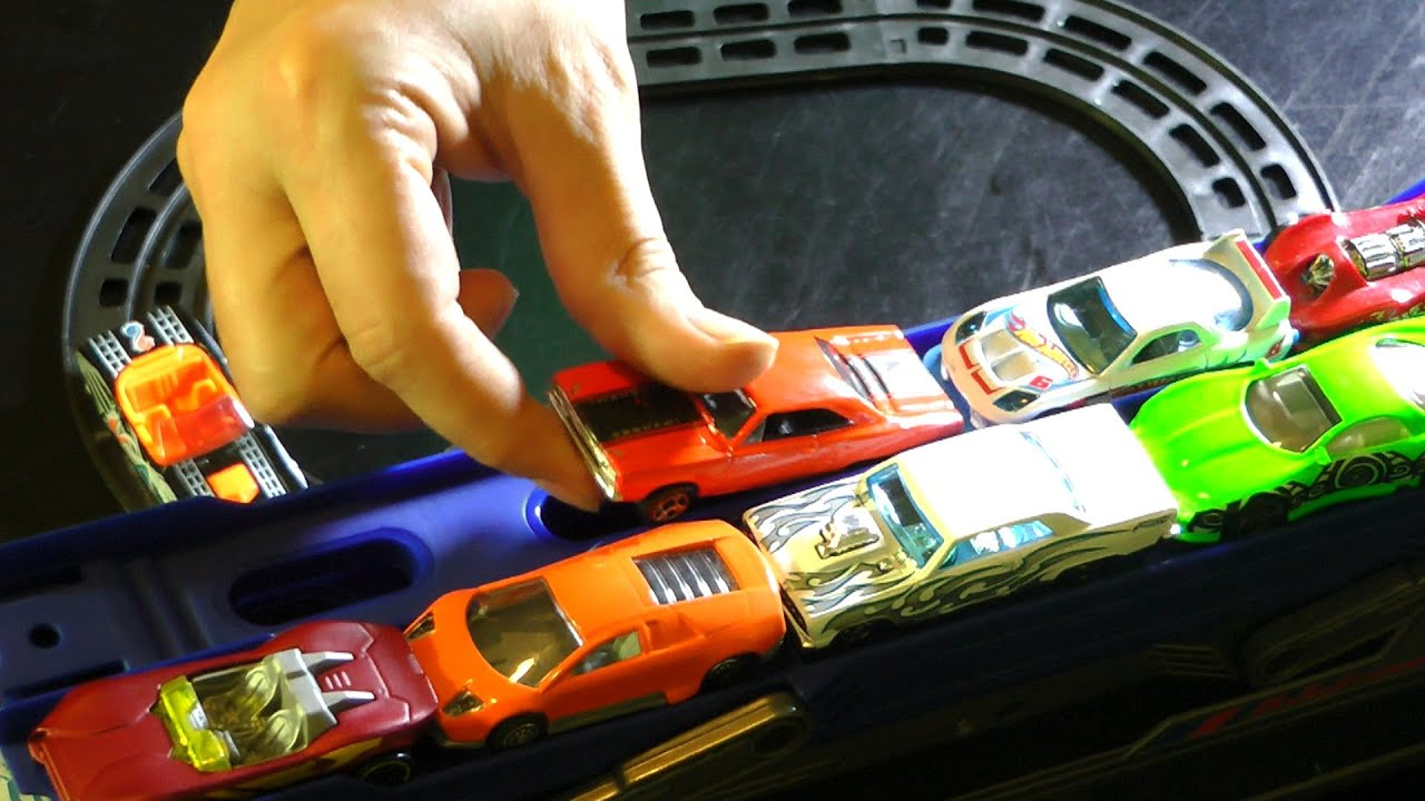 Little Race Car Track Set Monster Truck Toy Cars Action Youtube