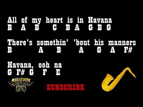 Camila Cabello - HAVANA - (Alto Saxophone Notes)