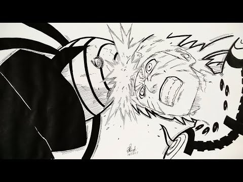 Drawing Naruto VS Tobi - Manga Sketch (SPECIAL ANNOUNCEMENT)
