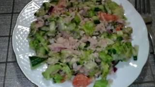 Вечерний фитнес салат/жиросжигающий! Рекомендую всем! & Evening fitness salad / fat burning!