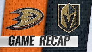 Golden Knights take down Ducks, 3-1