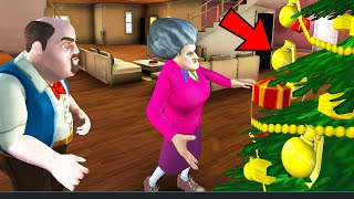 Scary Teacher 3D New Christmas Levels Christmas Tree - Android/iOS Gameplay HD