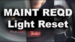 MAINT REQD Light Reset Scion XD  2009.