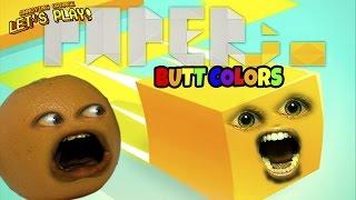 Annoying Orange Plays - Paper.io: BUTT COLORS