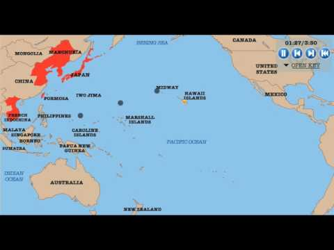 Map of the Pacific 1939 1945