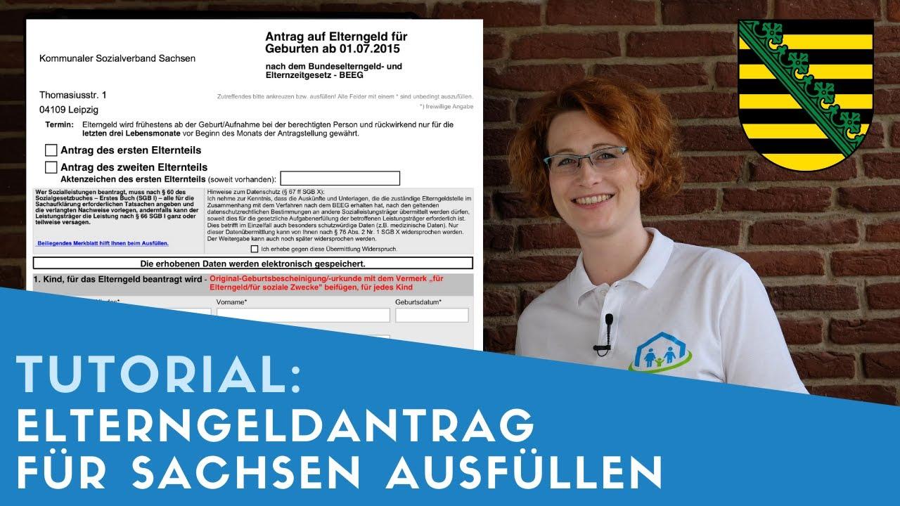 ▶ Elterngeldantrag für Sachsen ausfüllen + Tipps
