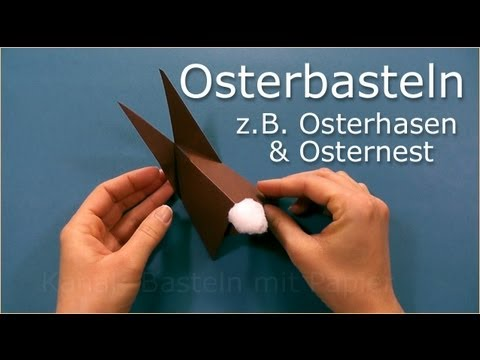 osterbasteln bastelideen f r ostern basteln mit papier ostern 2019 youtube. Black Bedroom Furniture Sets. Home Design Ideas