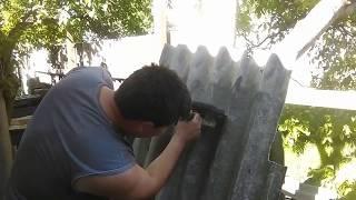 что делать, если нет круга по бетону, Можно ли отрезать шифер кругом по металу