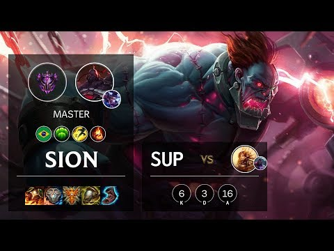 Sion Support vs Leona - BR Master Patch 10.9