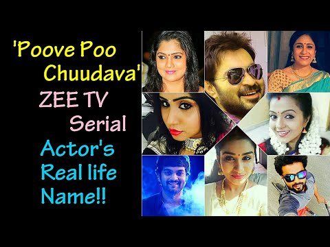 'Poove Poo Chudava'| Zee Tamil TV Serial | Actor's / Actress Real Life Name |