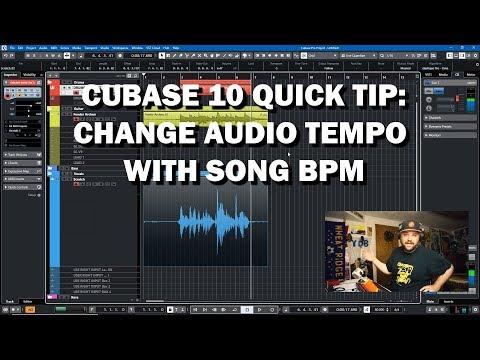 Cubase Quick Tip: Match Audio Tempo to Track BPM (And MIDI)