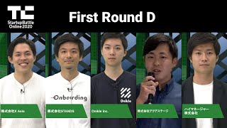 TechCrunch Startup Battle Online 2020/First Round グループD
