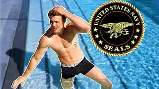 Male Model Attempts The US Navy Seals Fitness Test