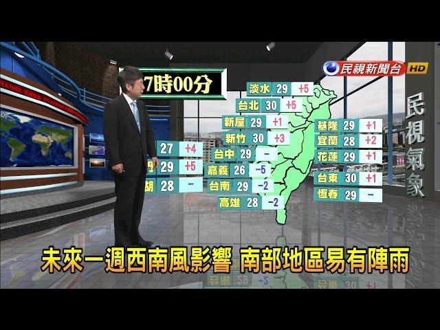 2019/6/26 未來一週南部地區易有陣雨-民視新聞