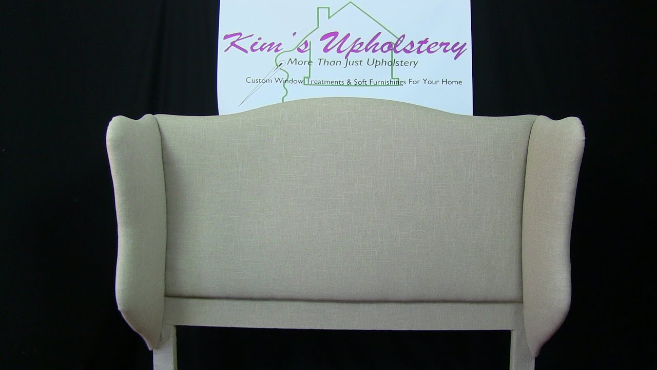 How To Build and Upholster a Wingback Headboard   YouTube How To Build and Upholster a Wingback Headboard
