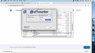 Установка программы учета рабочего времени StaffCounter на устройство / компьютер. MacOS.