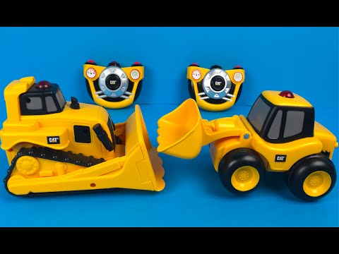 Caterpillar CAT E Z Machines Front Loader Mighty Machines Construction Toys for Kids & Bulldozer