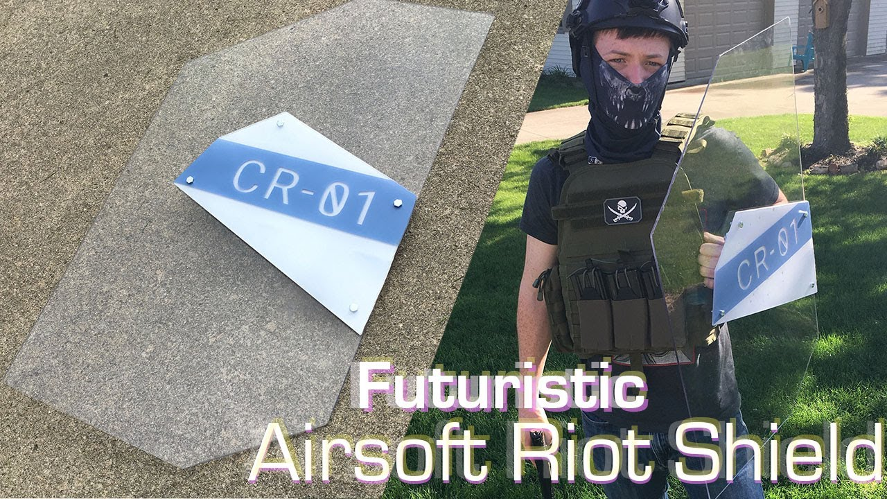 Futuristic Airsoft Riot Shield