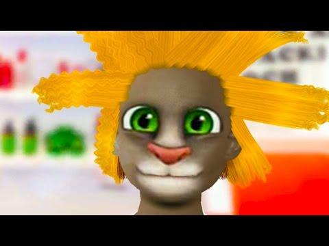 ПРИЧЕСКА ЧЕЛЛЕНДЖ ГОВОРЯЩИЙ ТОМ и ГОВОРЯЩАЯ АНДЖЕЛА - развлекательная игра видео детям #ПУРУМЧАТА