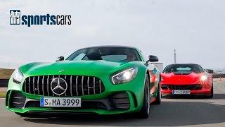 Mercedes-AMG GT R vs Corvette Z06: 0-200 km/h DUELL / Drift - AUTO BILD SPORTSCARS