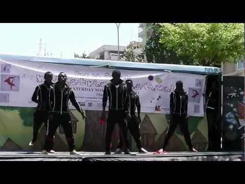 Modern Dance Show at Pedestrian festival in Dar es Salaam