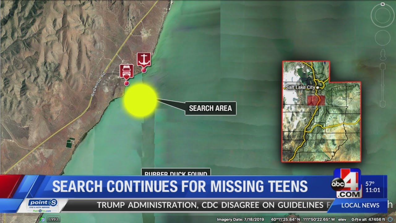 Search and rescue for two missing teens at Utah Lake continues