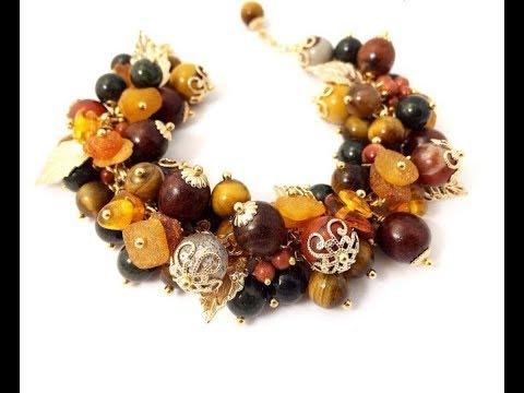 Браслеты из натуральных камней. Bracelets Made Of Natural Stones