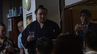 201080527 大相撲夏場所 優勝横綱鶴竜関 祝賀会乾杯.