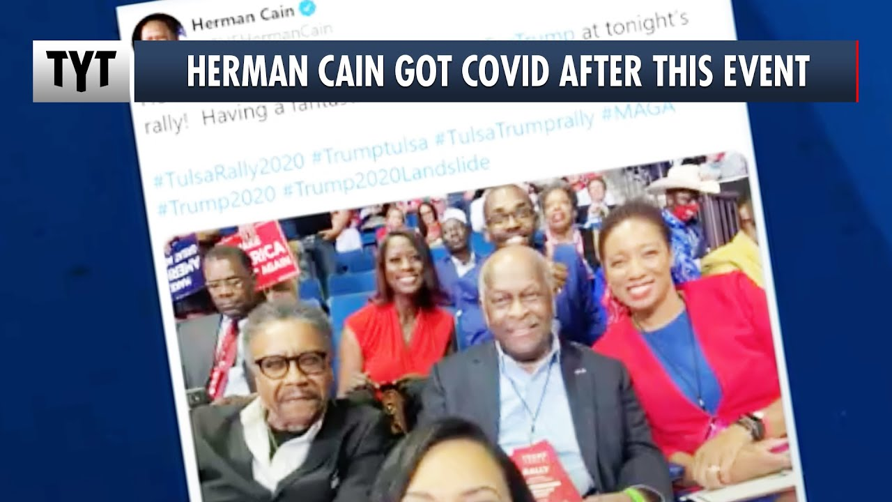 Karma Comes For Herman Cain, Hospitalized with Coronavirus After Trump Rally
