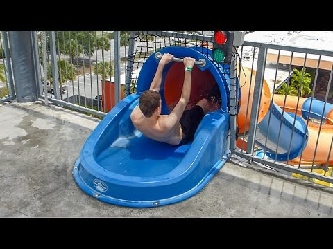 CoCo Key Water Resort - Over The Falls | Speed Slide Onride POV