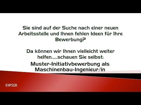 Initiativbewerbung - Maschinenbau-Ingenieur/in