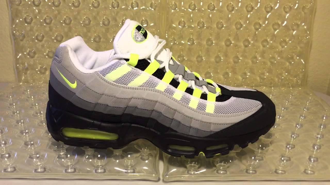 super popular ce0cb f9279 ShoeZeum Cool Grey Neon Yellow Nike Air Max 95s
